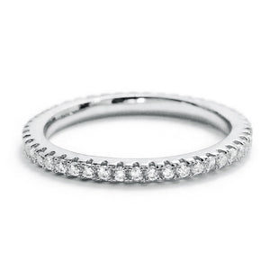Cubic Zirconia Sterling Silver Eternity Ring