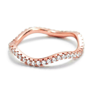 Gracious Rose Gold Plated 925 Silver Eternity Ring