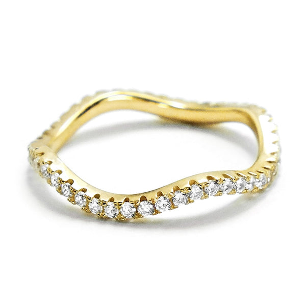 Gracious Gold Plated 925 Silver Eternity Ring