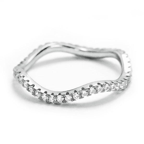 Gracious 925 Sterling Silver Cubic Zirconia Eternity Ring