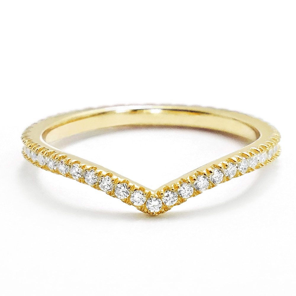 Elegant CZ Gold Plated Sterling Silver Eternity Ring