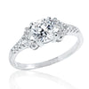 Beautiful 925 Sterling Silver 6mm Cubic Zirconia Ring