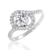 Stunning Brilliant Cut Cubic Zirconia 925 Sterling Silver Ring 10.5mm - Jewelry - Prjewel.com - 1