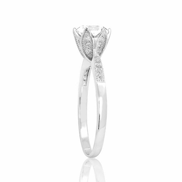 Fancy Flower 2.25 Carat Brilliant Cut Cubic Zirconia Sterling Silver Ring - Jewelry - Prjewel.com - 2