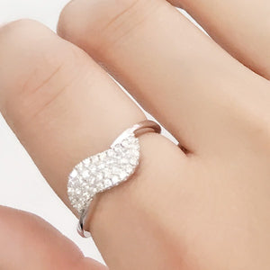 Beautiful Pave Setting Cubic Zirconia 925 Sterling Silver Ring - Jewelry - Prjewel.com - 1