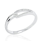 Fancy 925 Sterling Silver Cubic Zirconia Ring - Jewelry - Prjewel.com - 1