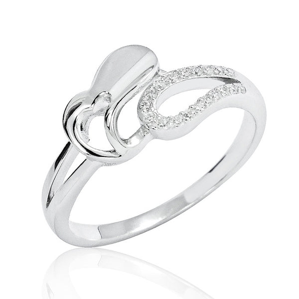 Sterling Silver Cubic Zirconia Special Heart Ring - Jewelry - Prjewel.com - 1