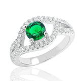 Exquisite Green Crystal 925 Sterling Silver Ring - Jewelry - Prjewel.com - 1
