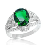 Fascinating Green Crystal 925 Sterling Silver Ring - Jewelry - Prjewel.com - 1