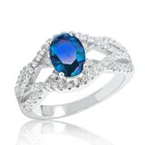 Precious Blue Crystal 925 Sterling Silver Ring - Jewelry - Prjewel.com - 1