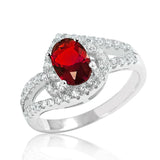 925 Sterling Silver Magnificent Red Crystal Ring - Jewelry - Prjewel.com - 1