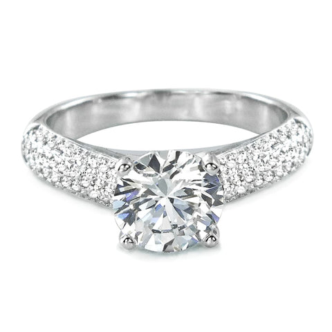 Luxurious 925 Sterling Silver CZ Engagement Ring