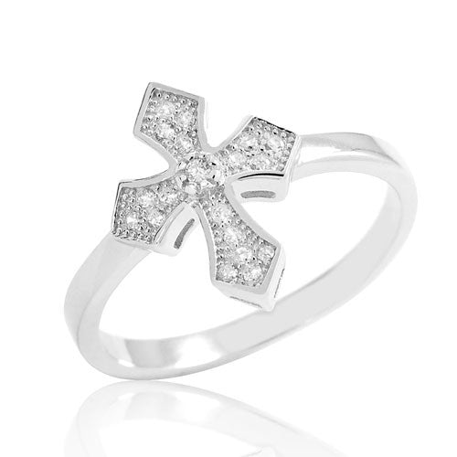 Sterling Silver Fashion Cross Ring