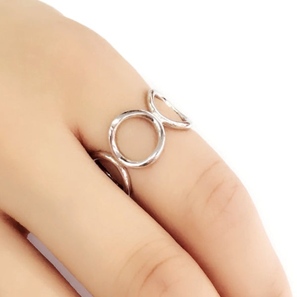 Sterling Silver Fashion Circle Ring 2