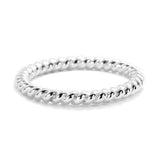Sterling Silver Twisted Stacking Ring - Jewelry - Prjewel.com - 1