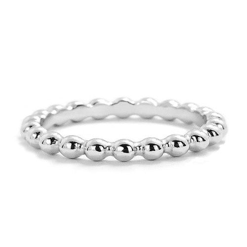 Sterling Silver Stackable Bead Ring - Jewelry - Prjewel.com - 1