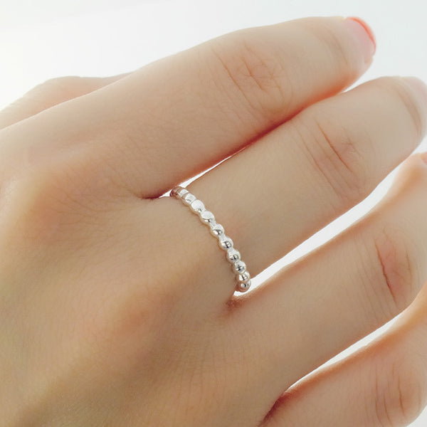 Sterling Silver Stackable Bead Ring - Jewelry - Prjewel.com - 2