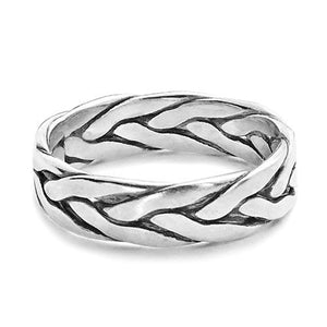 Handmade Celtic Silver Band Ring - Jewelry - Prjewel.com - 1