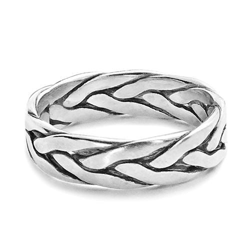 Handmade Celtic Silver Band Ring