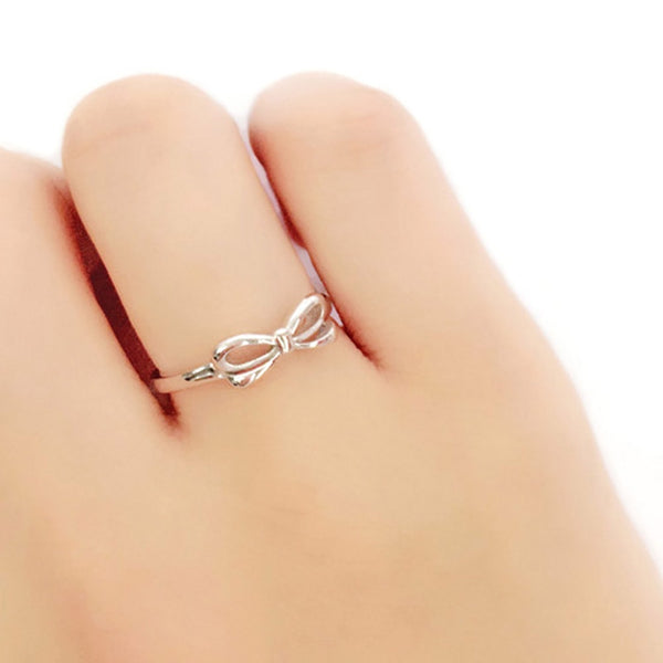 Sterling Silver Bow Ring - Jewelry - Prjewel.com - 3