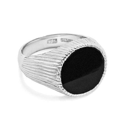 Sterling Silver Black Onyx Ring - Jewelry - Prjewel.com - 1