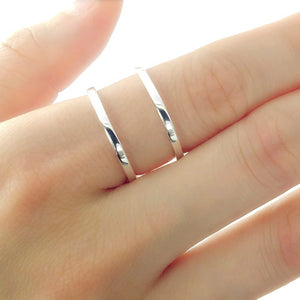 Sterling Silver Double Band Ring 2