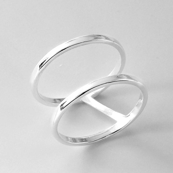 Sterling Silver Double Band Ring