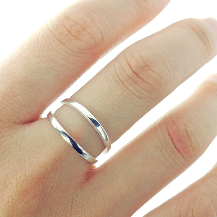 Double Band Sterling Silver Ring 2