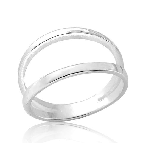 Double Band Sterling Silver Ring