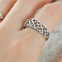 Sterling Silver Wave Vintage Ring 2