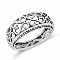 Sterling Silver Wave Vintage Ring
