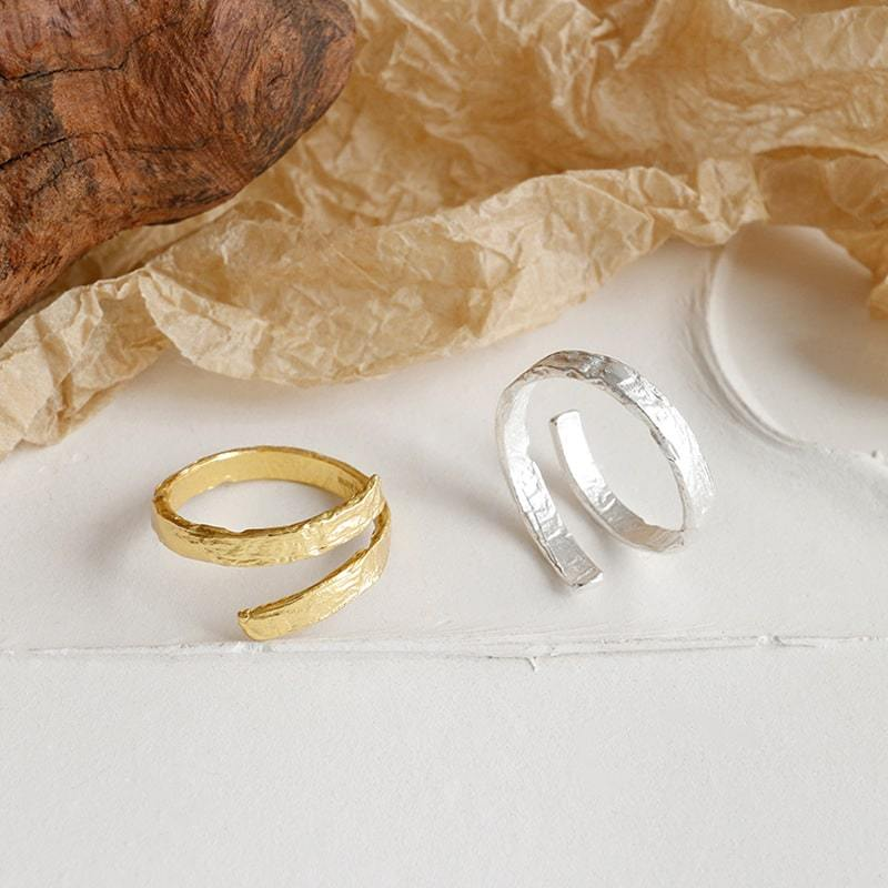 Sterling Silver Simple Style Open Ring 3