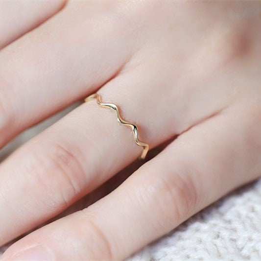 9K Solid Gold Wave Eternity Ring 2