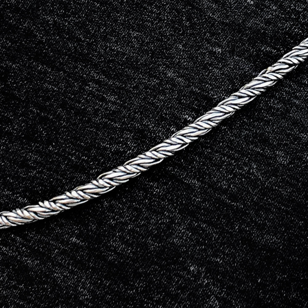 Solid Sterling Silver 3.5mm Infinity Rope Chain Necklace 4