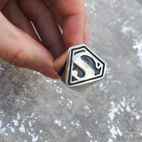 Sterling Silver Superman Ring 2