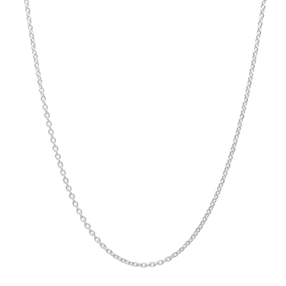 Sterling Silver CZ Triangle Pendant Necklace 2