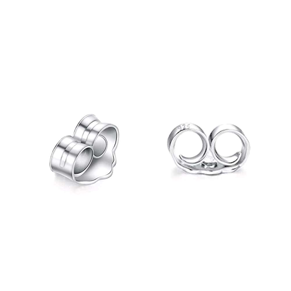 Sterling Silver Prong Settings Cz Earrings Studs 3