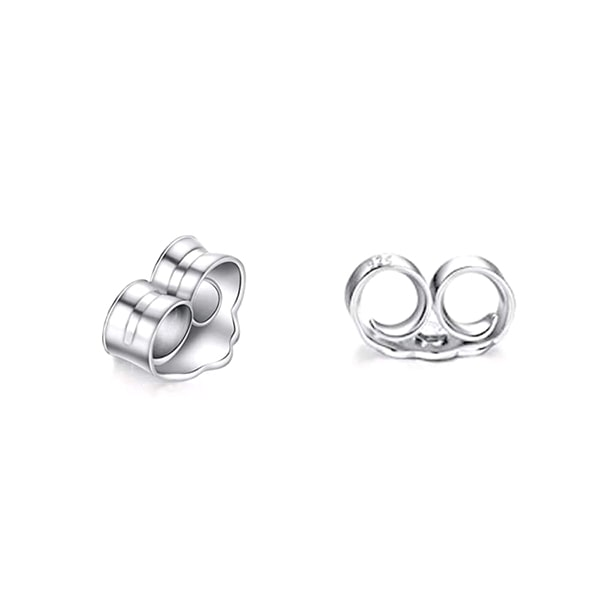 925 Sterling Silver 0.9 Carat Cubic Zirconia Earrings Studs 3