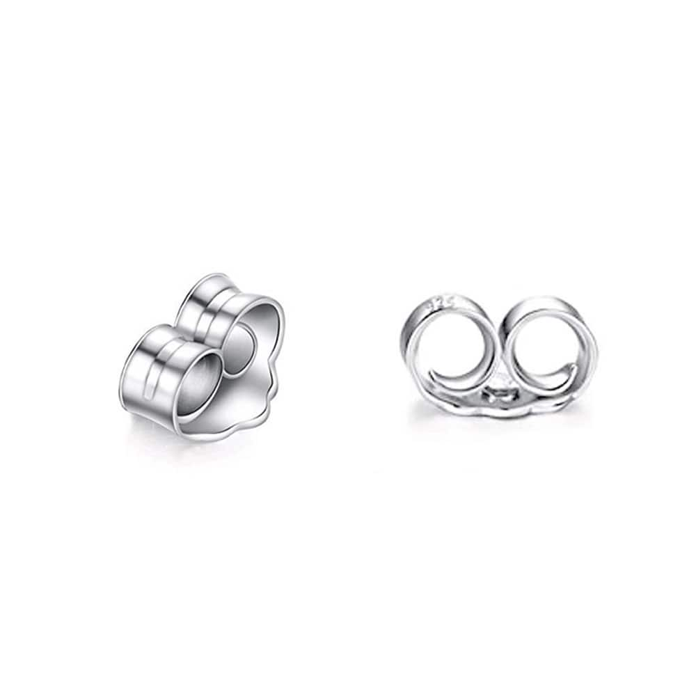 Sterling Silver Bar Stud Earrings for Women 4