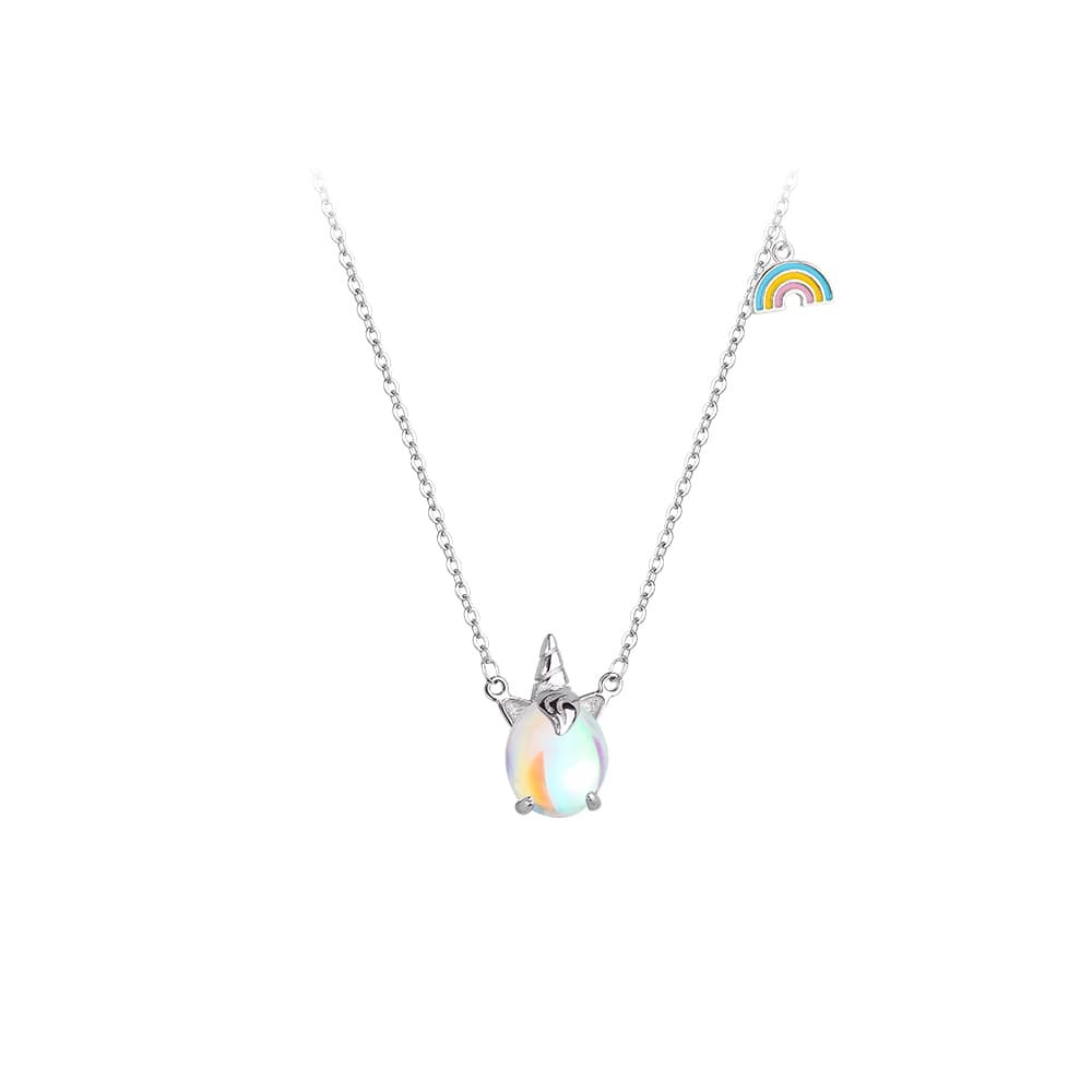 Colorful Unicorn Rainbow Pendant Necklace 5