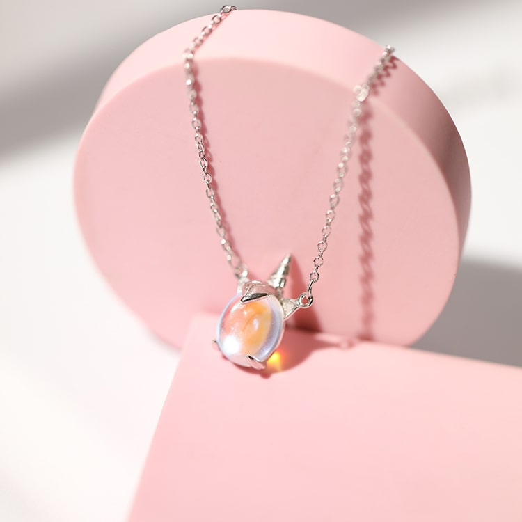 Colorful Unicorn Rainbow Pendant Necklace 4