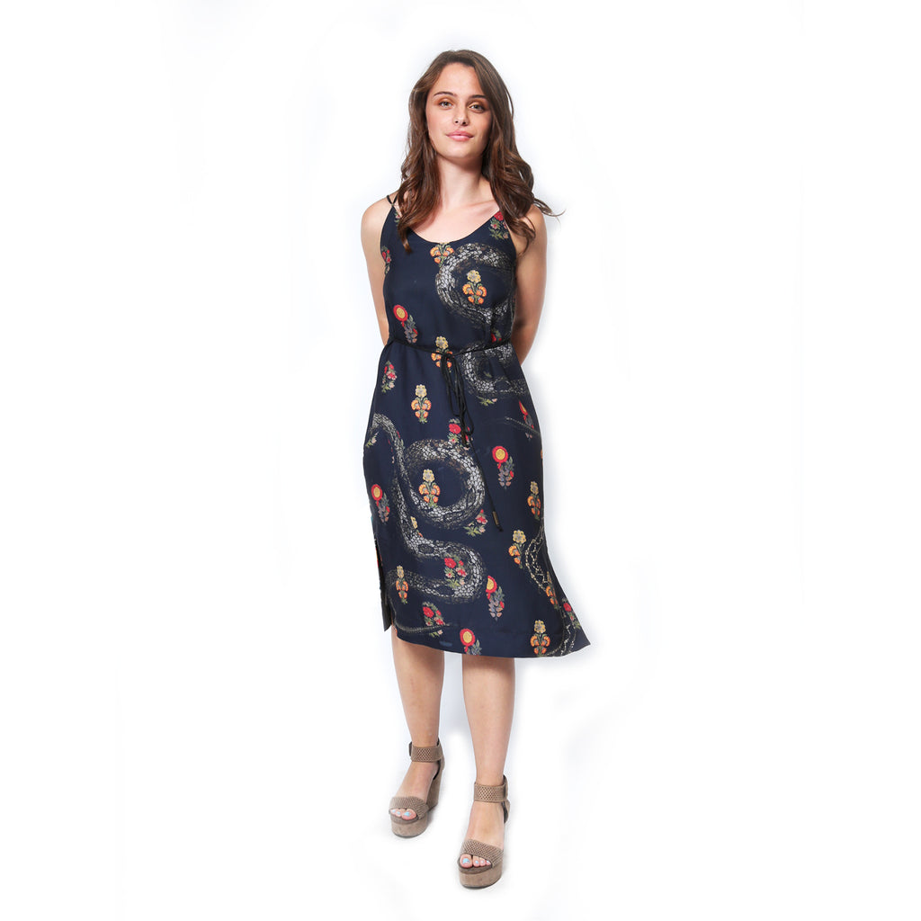 Annabelle Uniform Melissa Dress snake print
