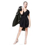 Annabelle Uniform Michelle Wrap Dress black