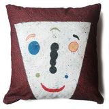 Matt Leines Pillow - face / blue