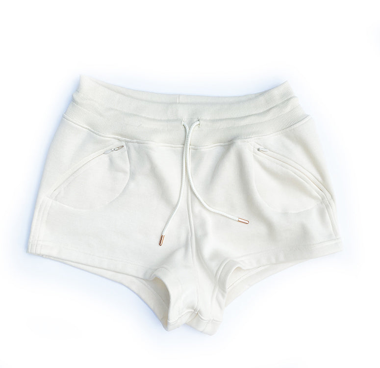 Blank Canvas Sweatshort - cream