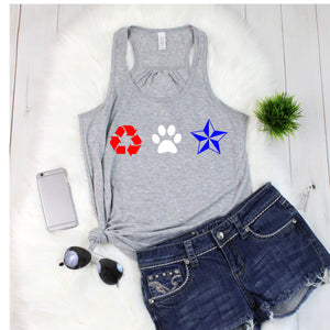 RPNC 4th of July Flowy Tank - Ruff Life Rescue Wear