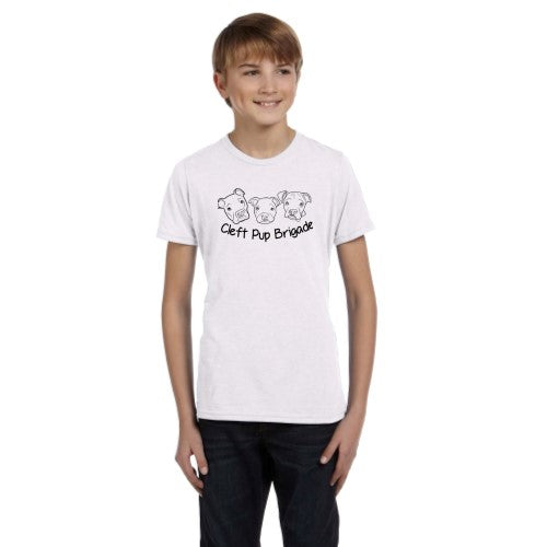 Cleft Pup Brigade - Youth Tee - Ruff Life Rescue Wear