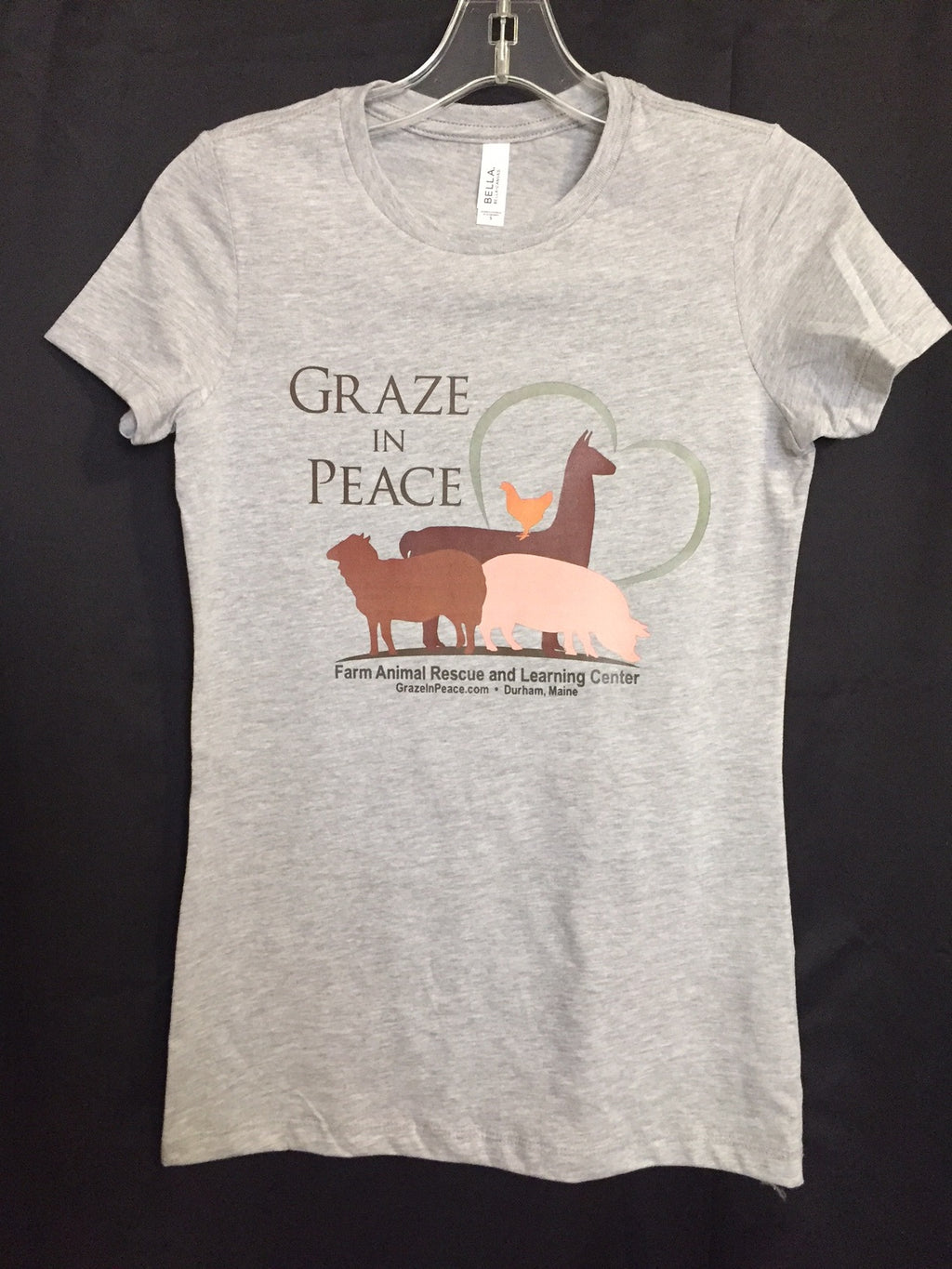 Graze in Peace Ladies Slim Fit Tee - Ruff Life Rescue Wear