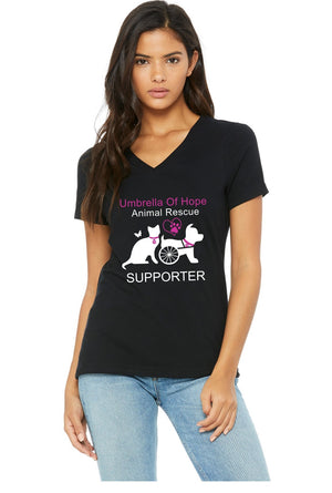 Umbrella of Hope Relaxed Fit V-Neck - Ruff Life Rescue Wear