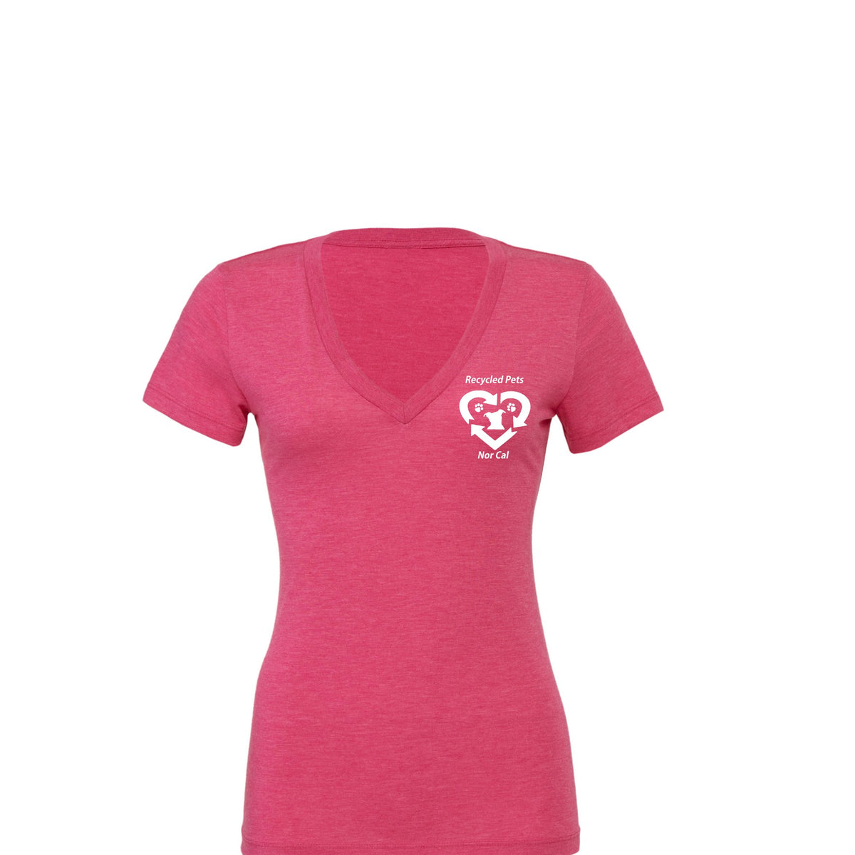 Recycled Pets Women's Tri-Blend Deep V-Neck T-Shirt